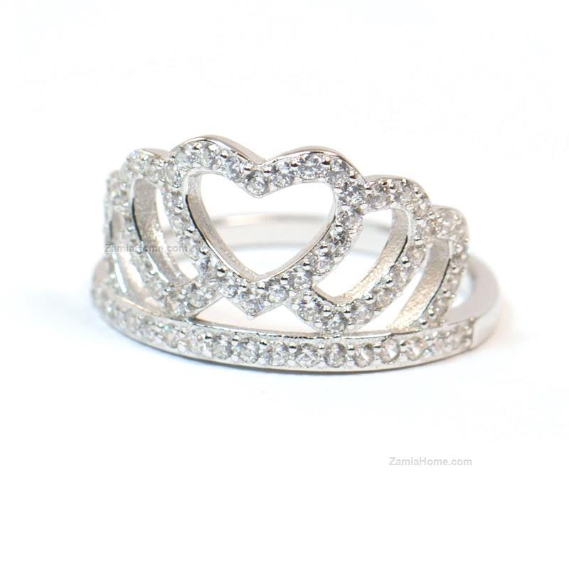 Top Anello corona a forma di cuore any-g anello corona argento 925  VX51