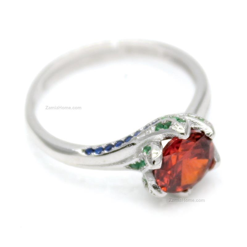 Ring with colored cz