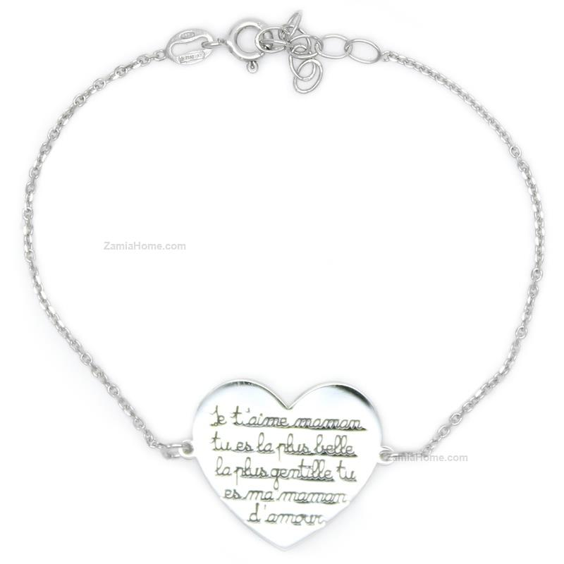 Bracialet heart love quote