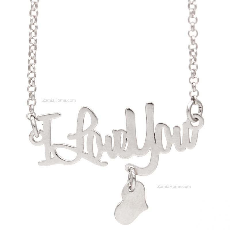 Necklace i love you