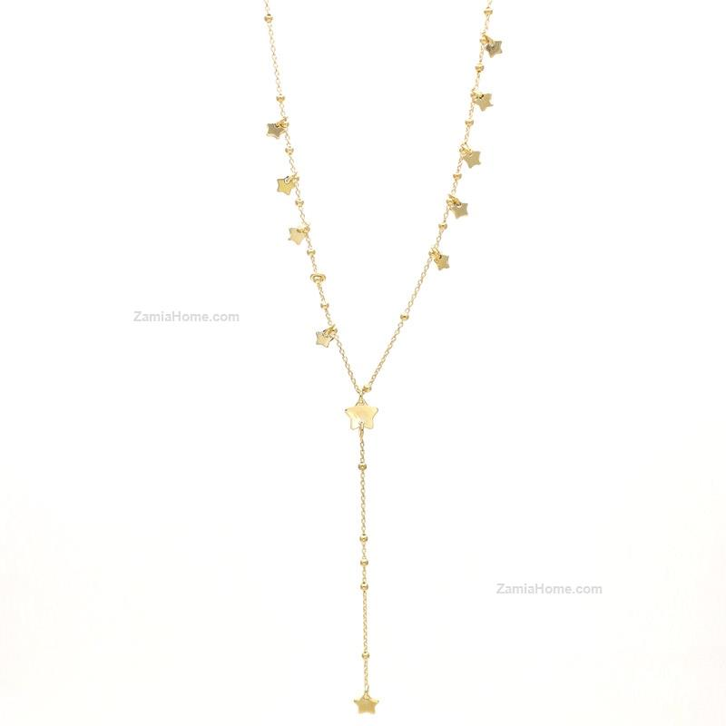 Long necklace stars