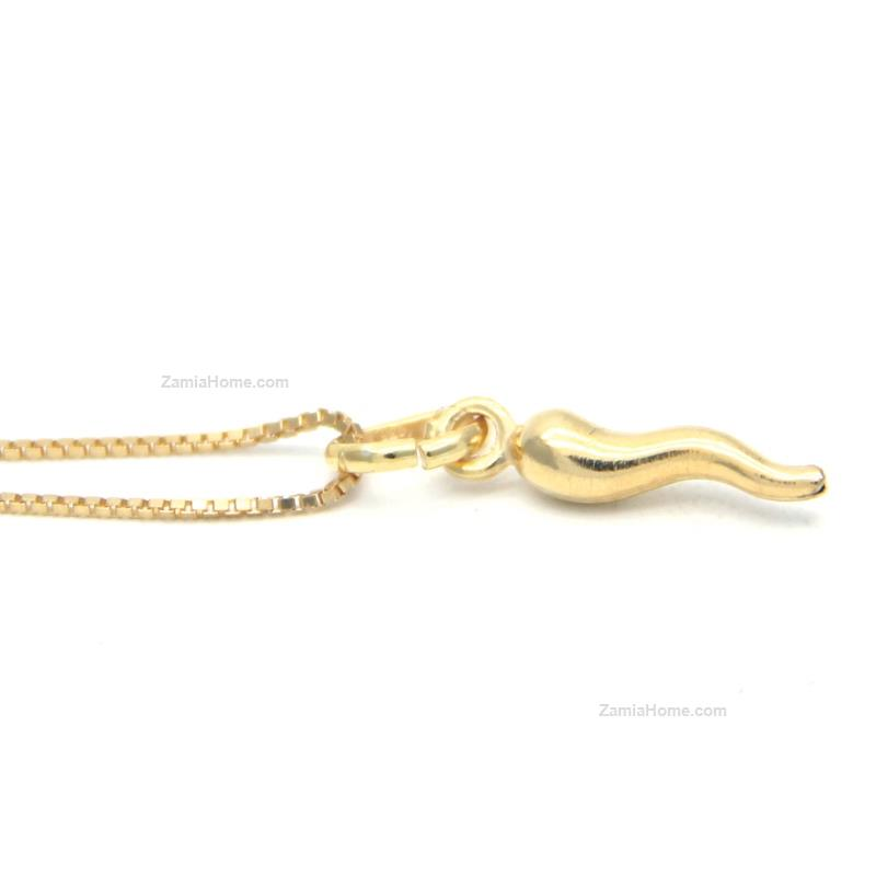 Lucky horn with chain