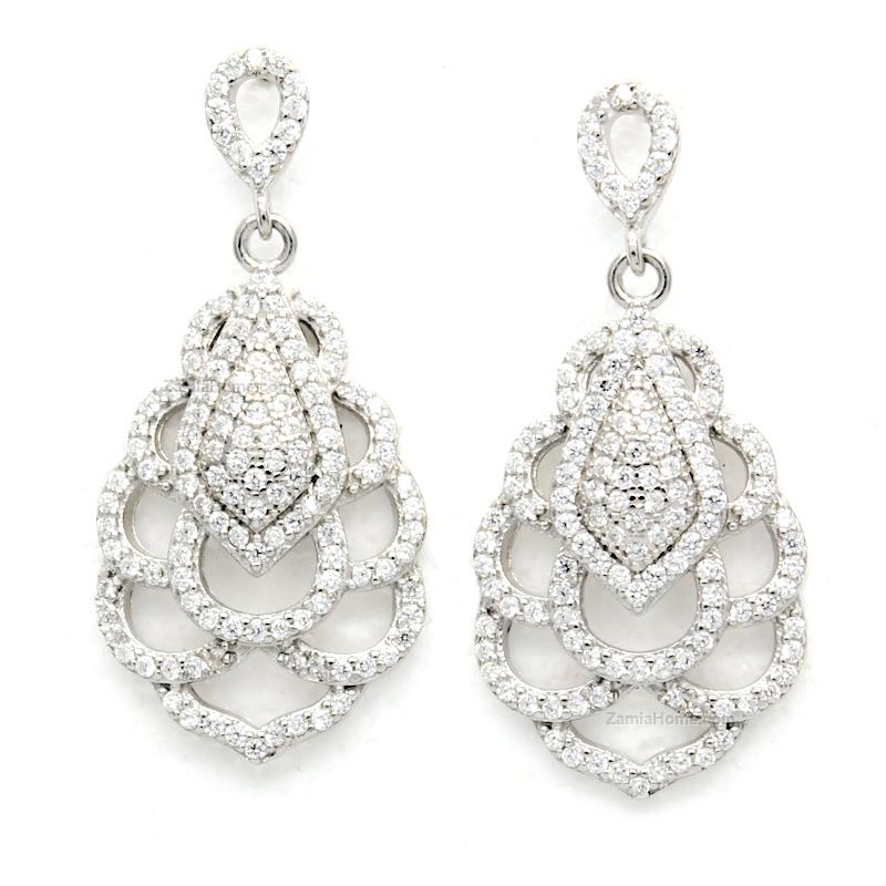 Earrings with cz