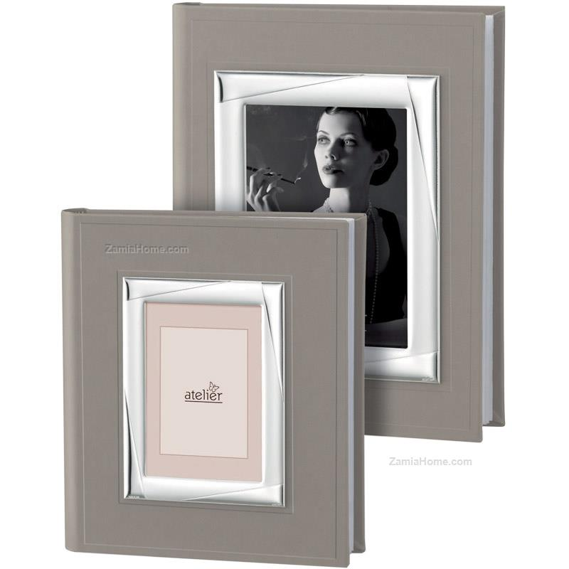 Album With Frame Atelier Cm 16x21 Int 6x9 Photo Album With Silver