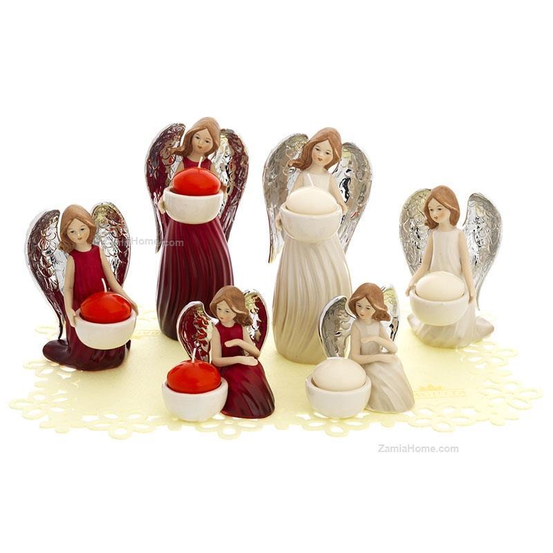 Angeli porta candela bagutta kit esposizione 6 pz resina for Porta candela