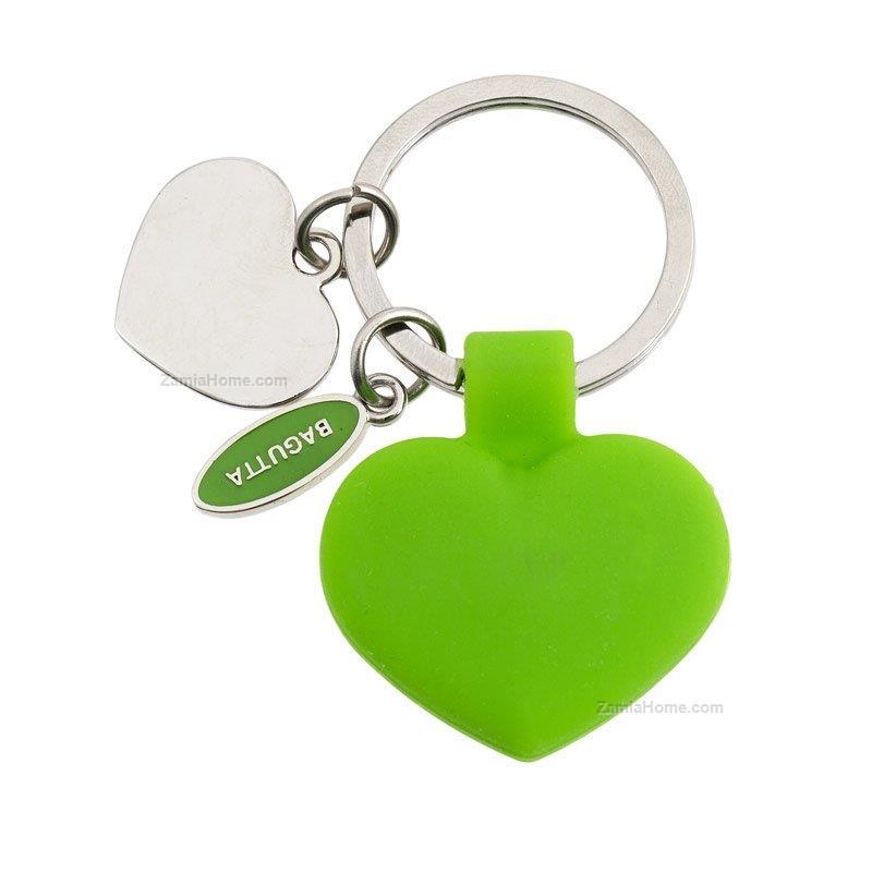 Portachiavi con ciondolo bagutta verde - cuore portachiavi laminato ... 8200468a2f29