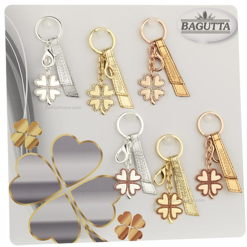 Four leaf clover keychains bagutta expokit - 6 pcs stainless steel ... d1aa0fe8c769
