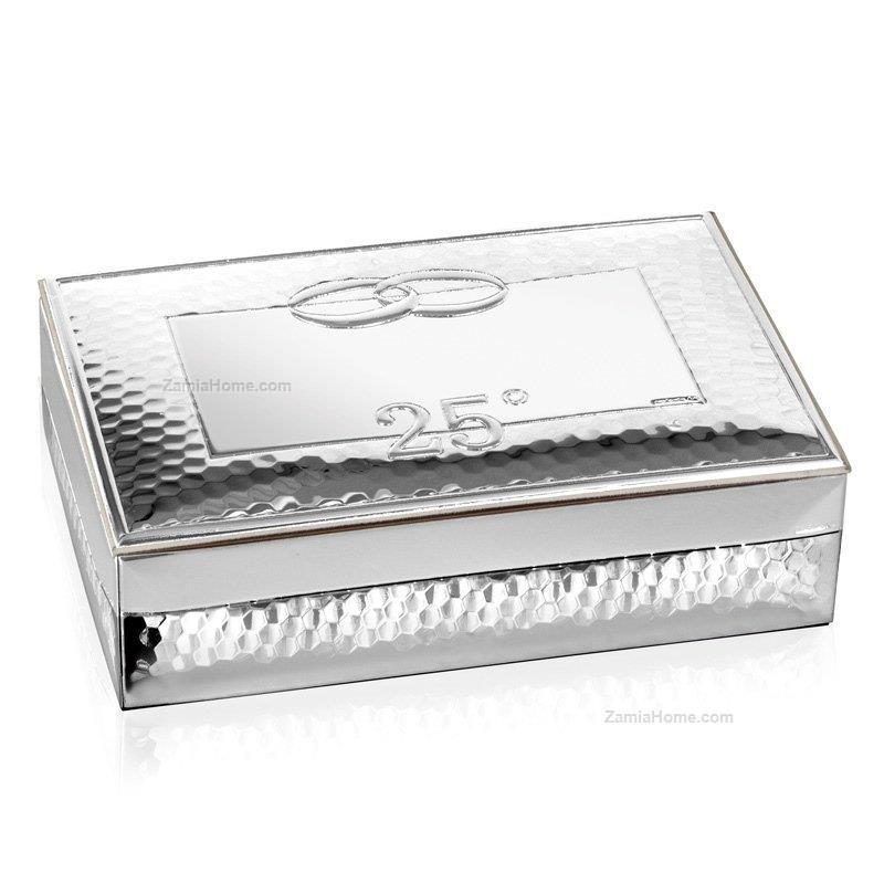 Cofanetto all silver beltrami cm 10x15 h 4 25 cofanetto - Portagioie argento ...