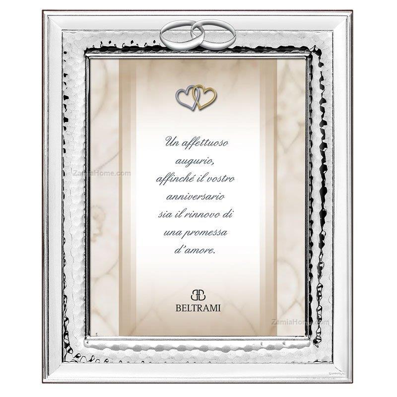 Cornice anniversario beltrami cm 13x18 fedi argento for Cornici 13x18