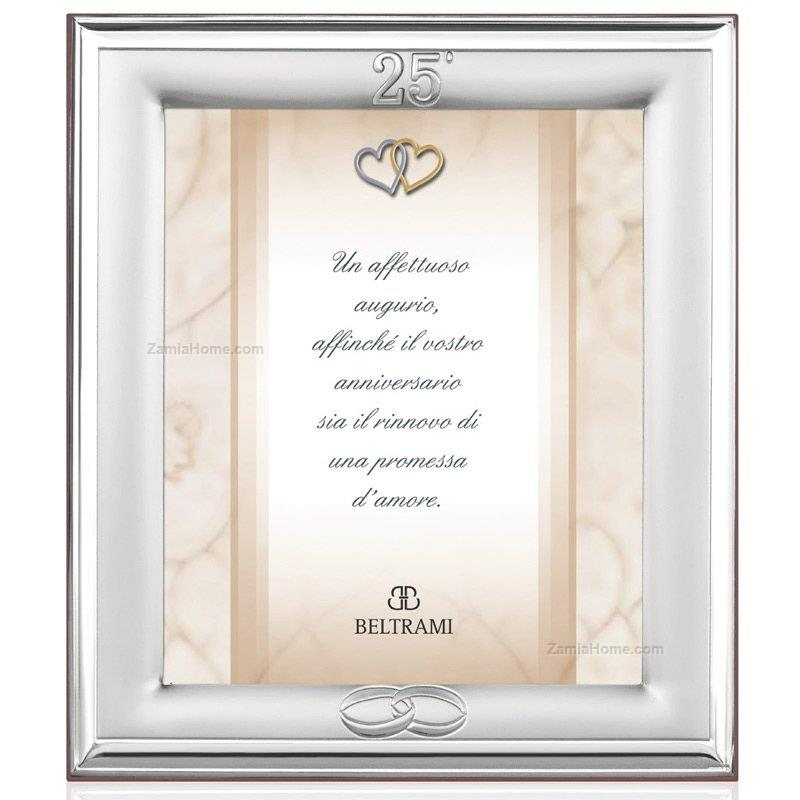 Anniversary Picture Frame Beltrami Cm 18x24 Silver Wedding Silver