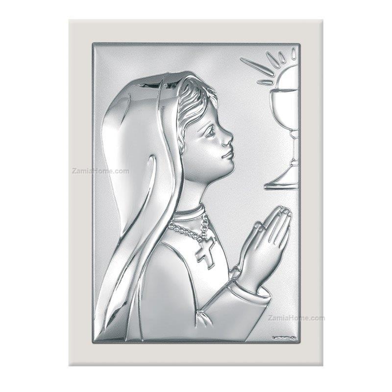 Girl communion icon beltrami cm 6x9 white wood back bel6355/2aw ...