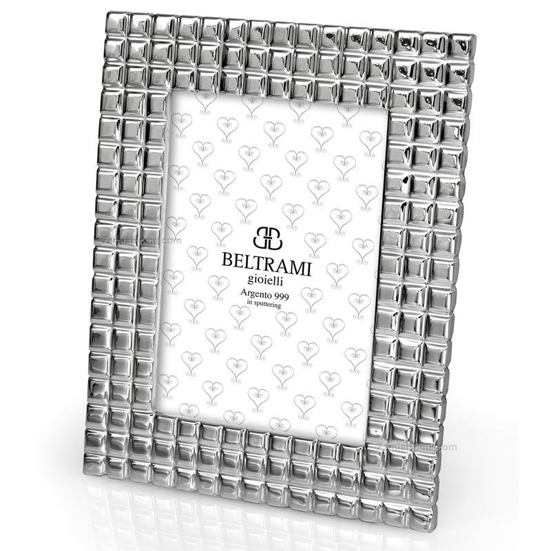 Porta foto quadratini beltrami cm 13x18 argento 999 for Cornici 13x18