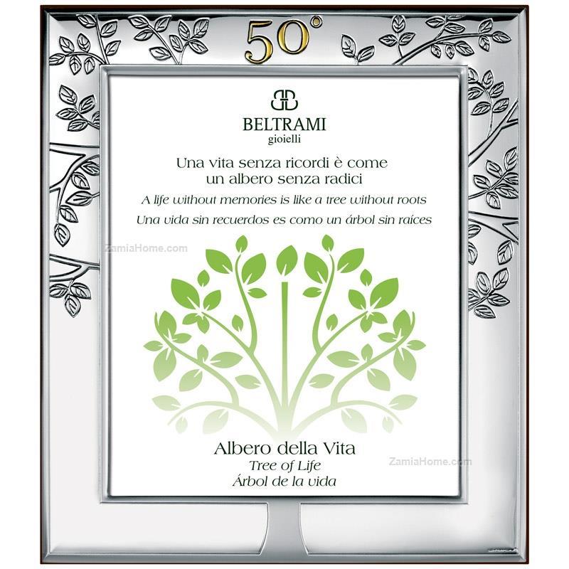 Tree Of Life Anniversary Frame Beltrami Cm 13x18 Golden Wedding