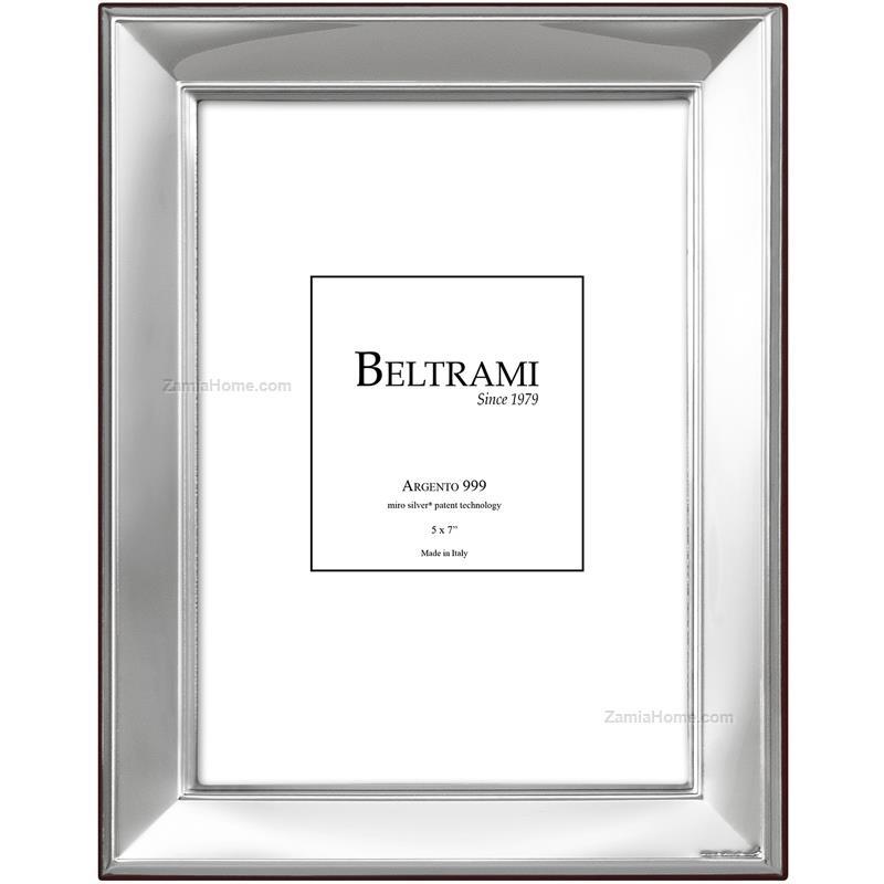Portafoto liscio beltrami cm 10x15 argento laminato retro for Cornici portafoto