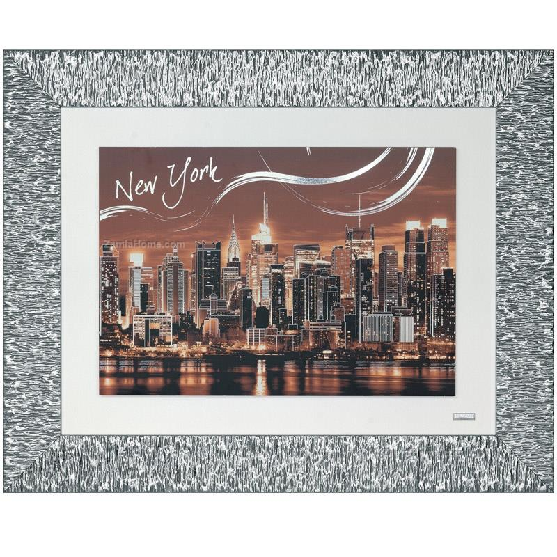 Printed picture new york sunset