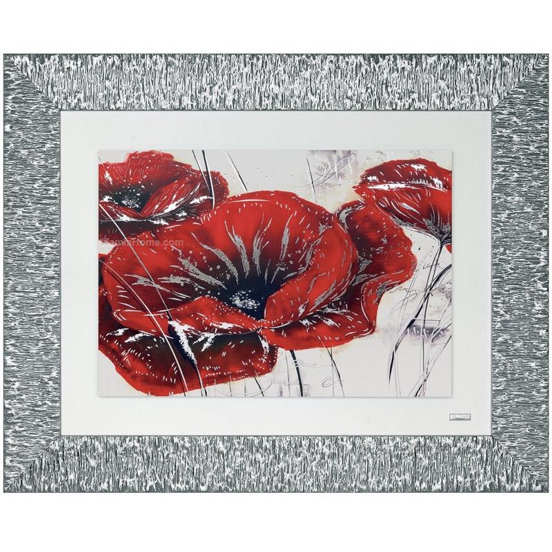 Printed picture poppies