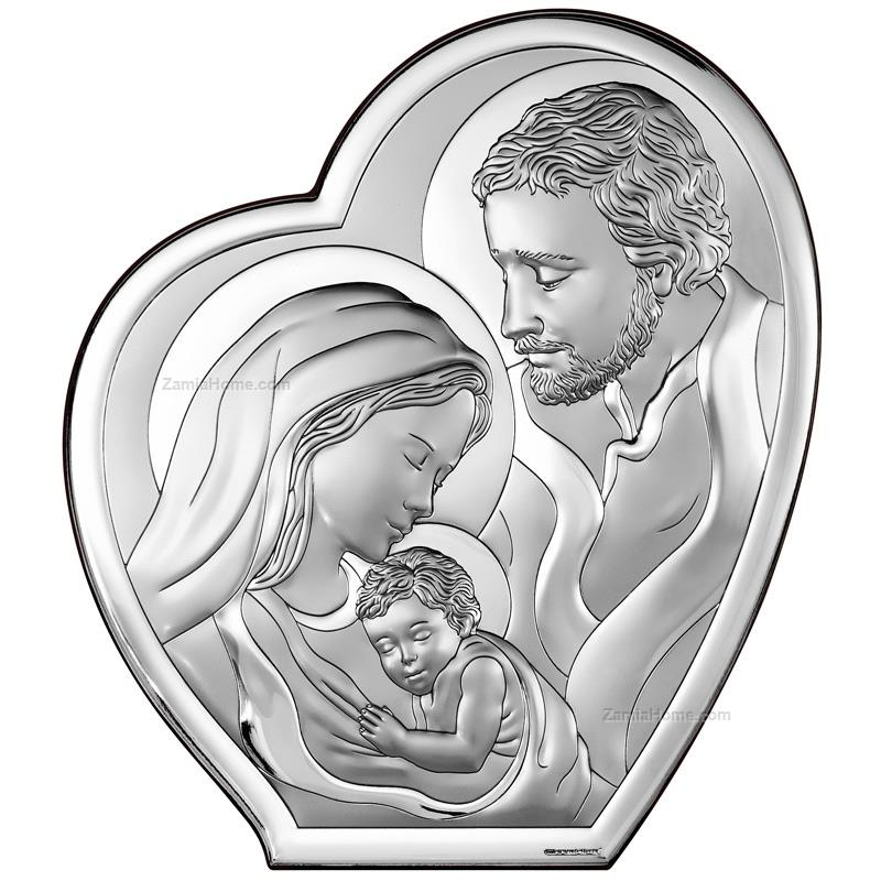 Heart shape holy family