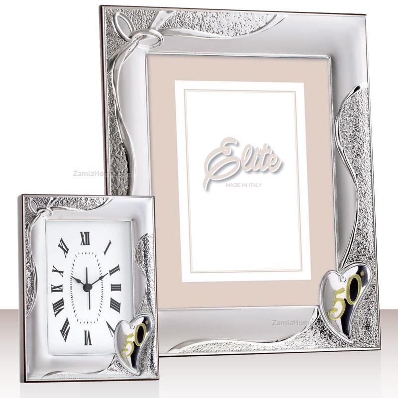 Anniversary photoframe first class cm 9x13 - golden wedding silver ...