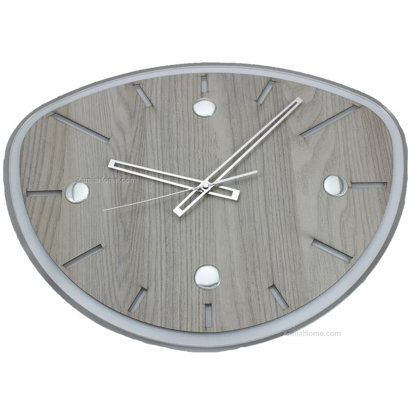 Plexi and wood wall clock
