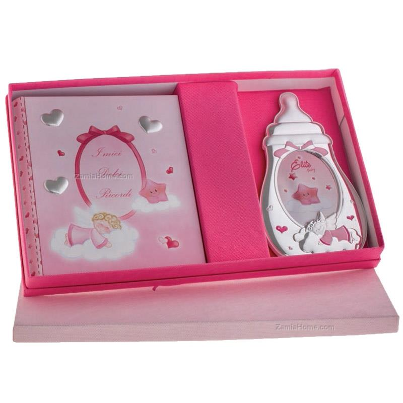 Baby set feeding bottle angel