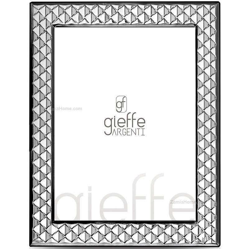Cornice texture gieffe argenti cm 9x13 cornice argento for Cornici foto 15x20