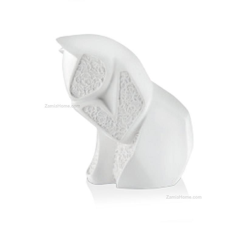 Gatto Stilizzato Moda Argenti Cm 65 Bianco Resina Bianca Mod2741 B