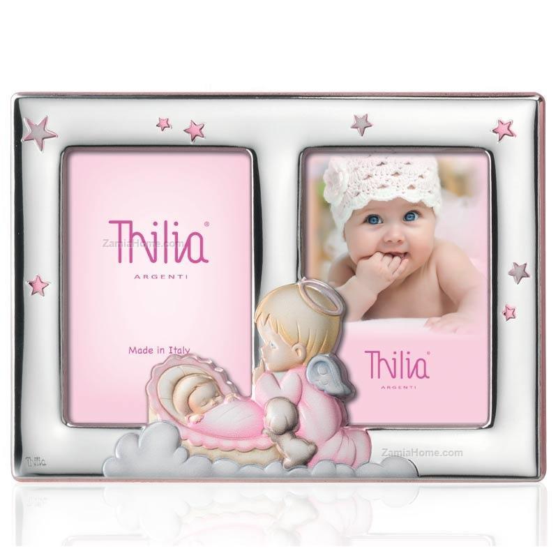Thilia argenti Double photoframe guardian angel cm452745