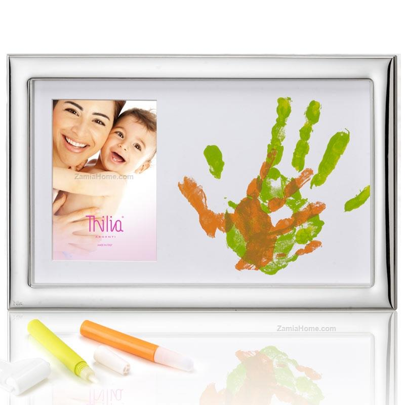 Photoframe with handprint set