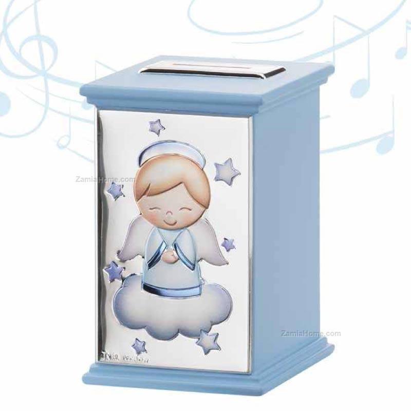 Piggy bank with musical box