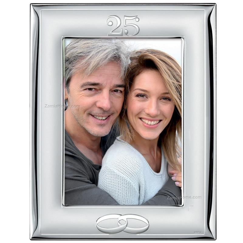 Picture Frame Silver Wedding Valenti Co Cm 9x13 Polished Satin