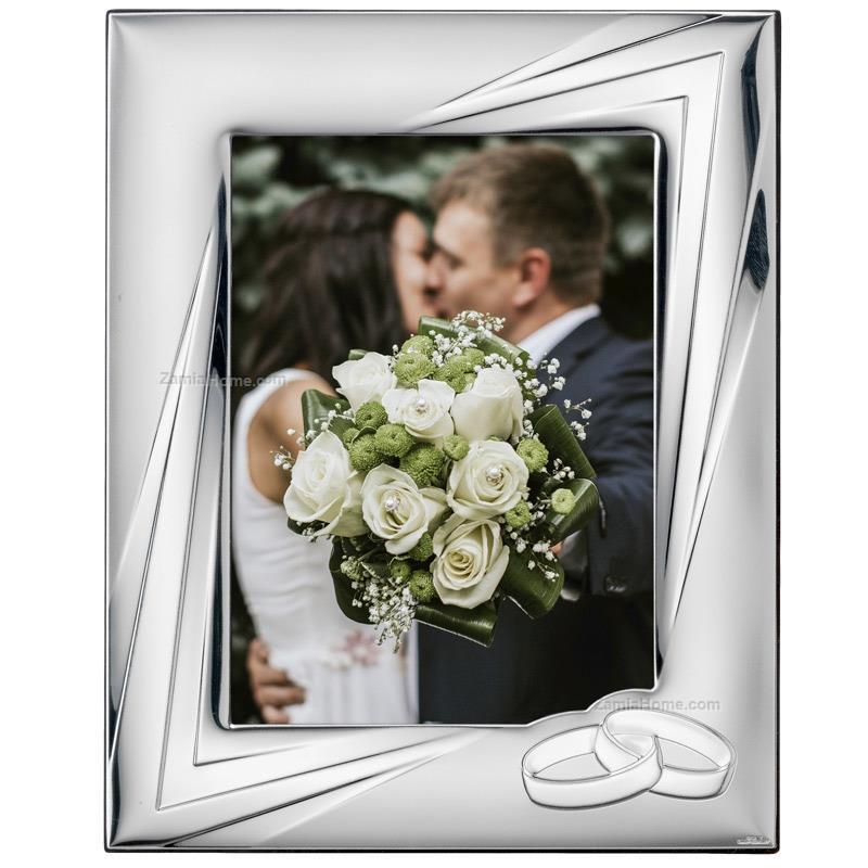 Bomboniere Matrimonio Cornici.Cornice Matrimonio Valenti Co Cm 13x18 Fedi Cornice Argento