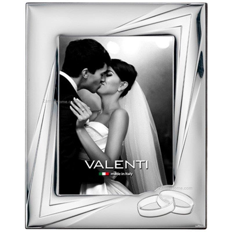 Cornice matrimonio valenti & co. cm 18x24 - fedi cornice argento ...