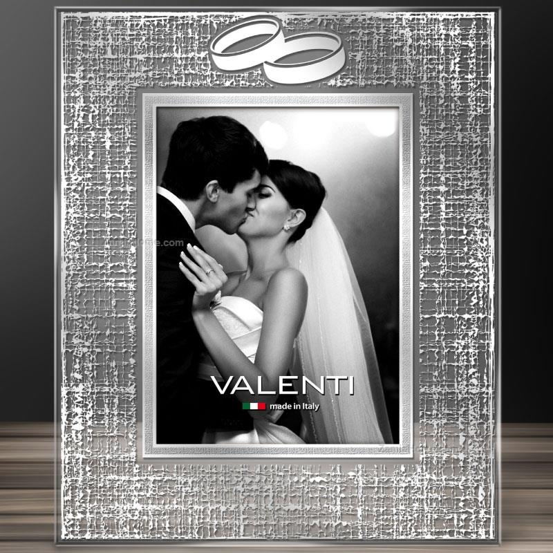 Crystal picture frame valenti & co. cm 10x15 - wedding rings with ...