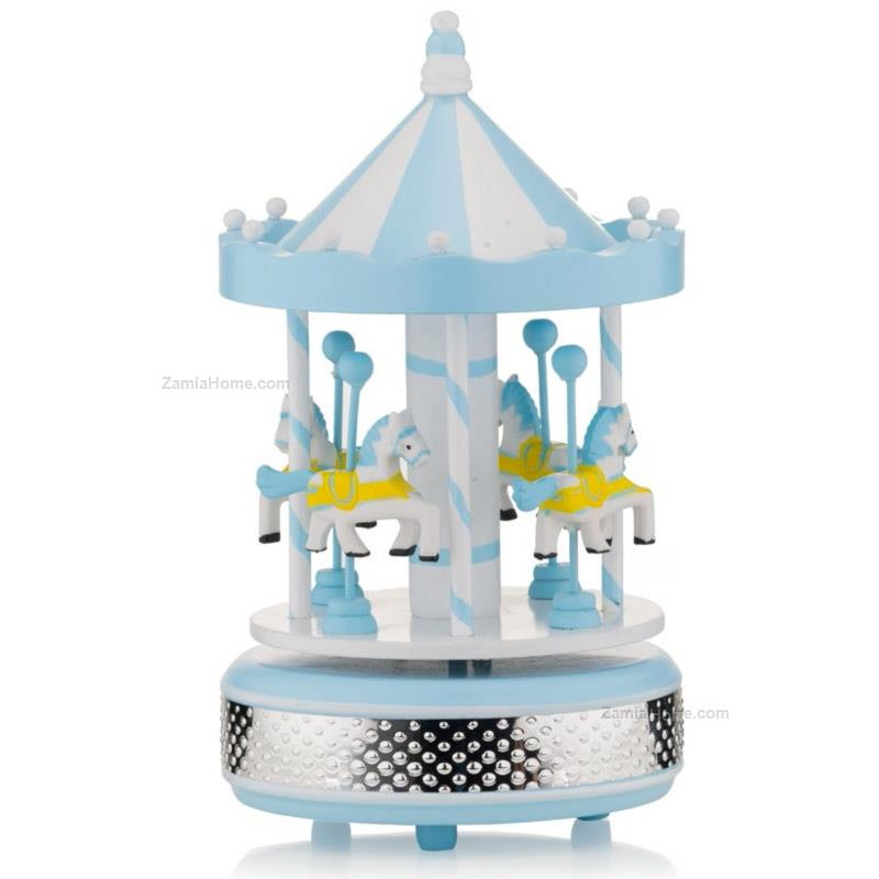 Carousel with musical box