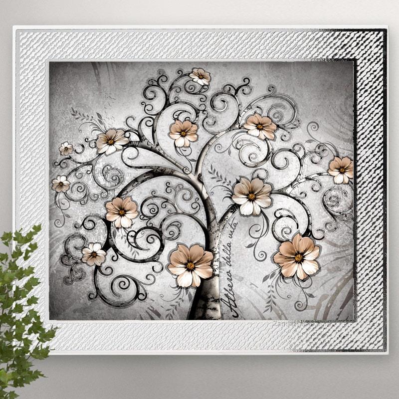 Pannello albero della vita valenti & co. cm 38x33 legno retro legno ...