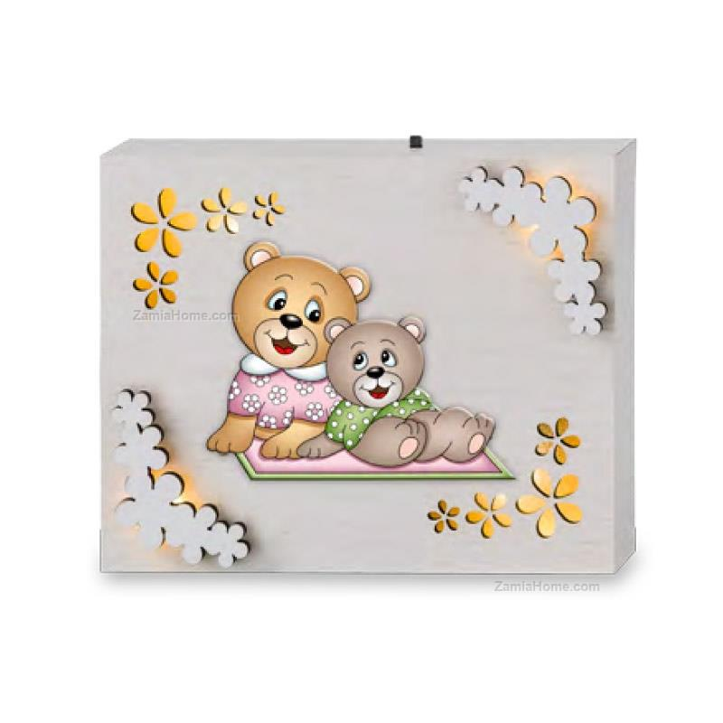 Light panel teddy bears