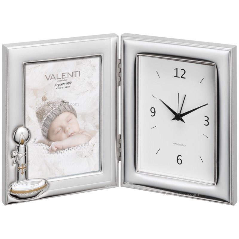Photoframe with clock baptism