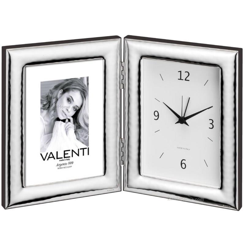Hammered photoframe with clock