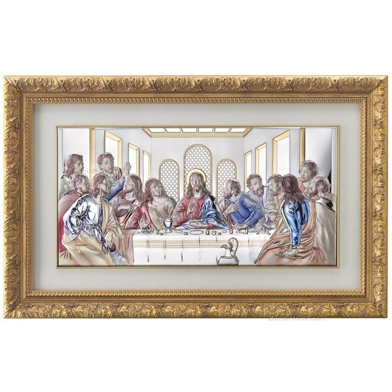 The last supper valenti & co. int. cm 50x245 - color silver plate ...
