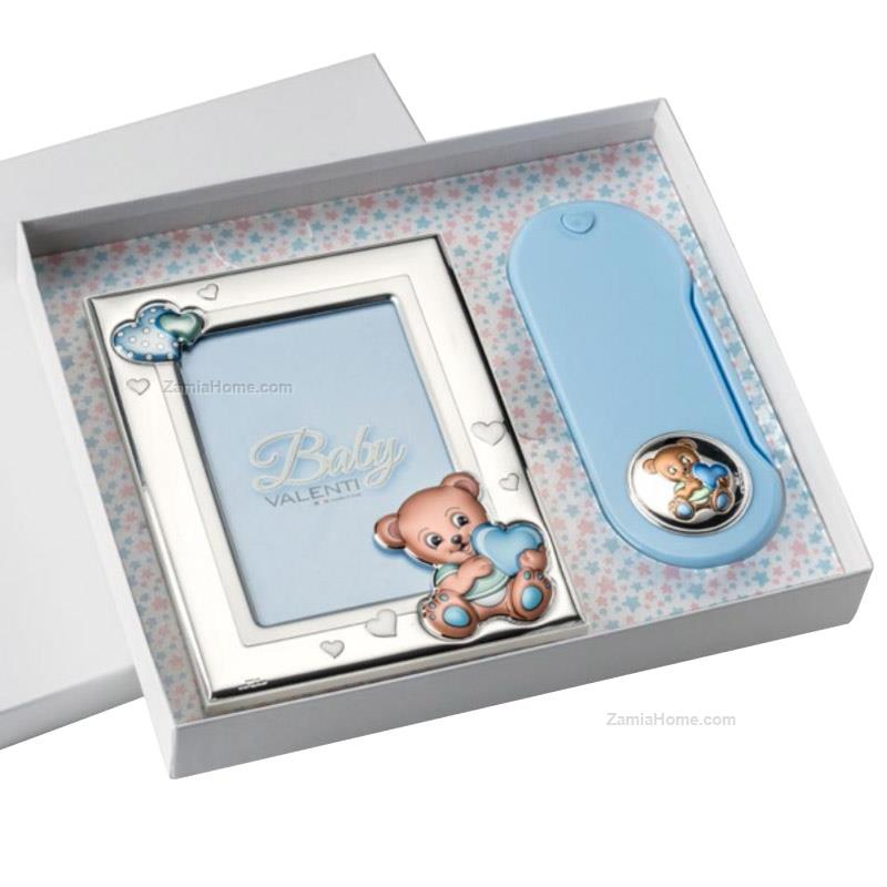 Food set and photoframe teddy bear