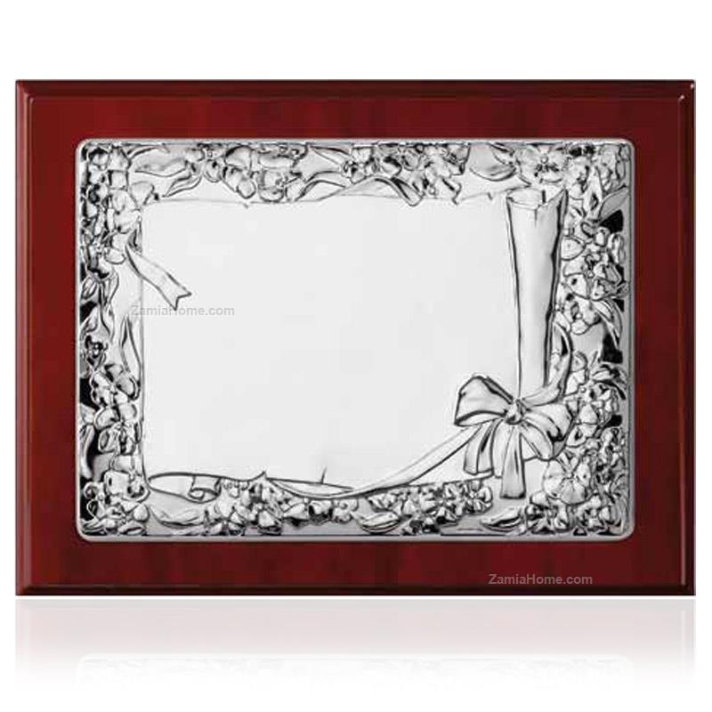 Targa pergamena valenti co cm 13x18 argento laminato da for Cornici 13x18