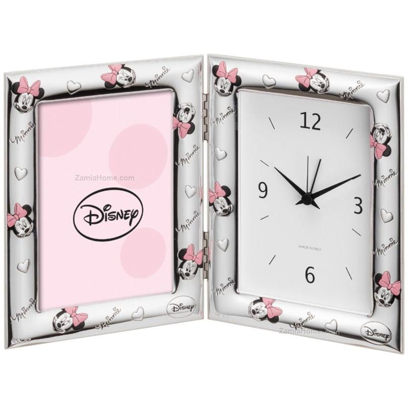 Photoframe with clock minnie mouse