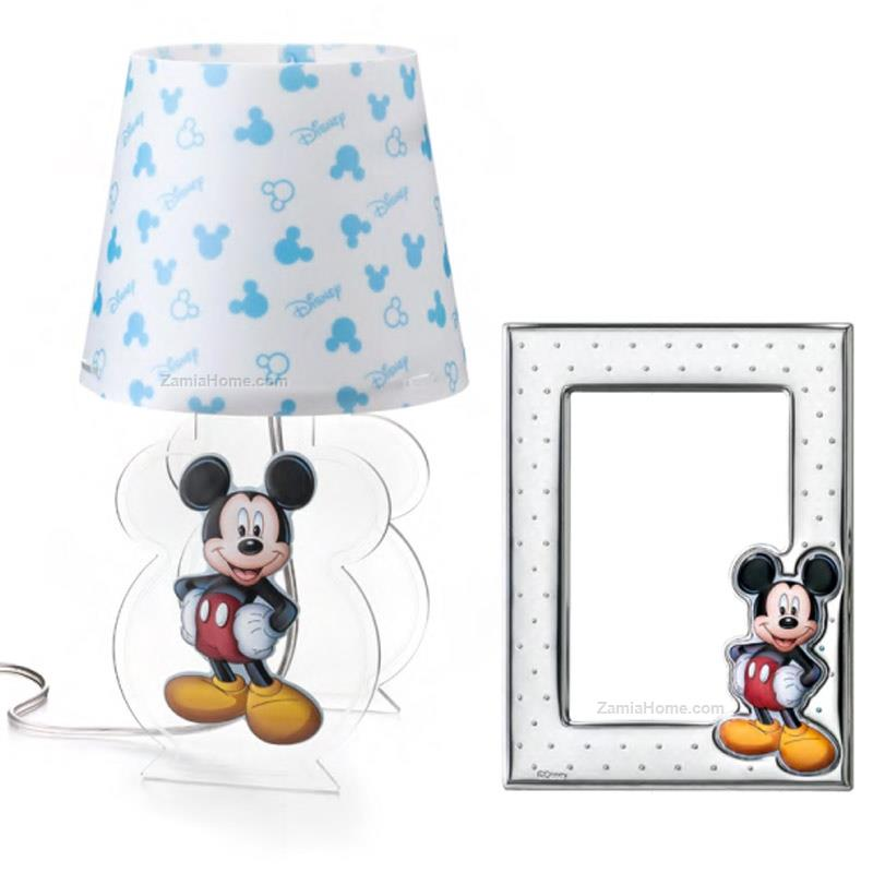 Lamp and photoframe set mickey mouse