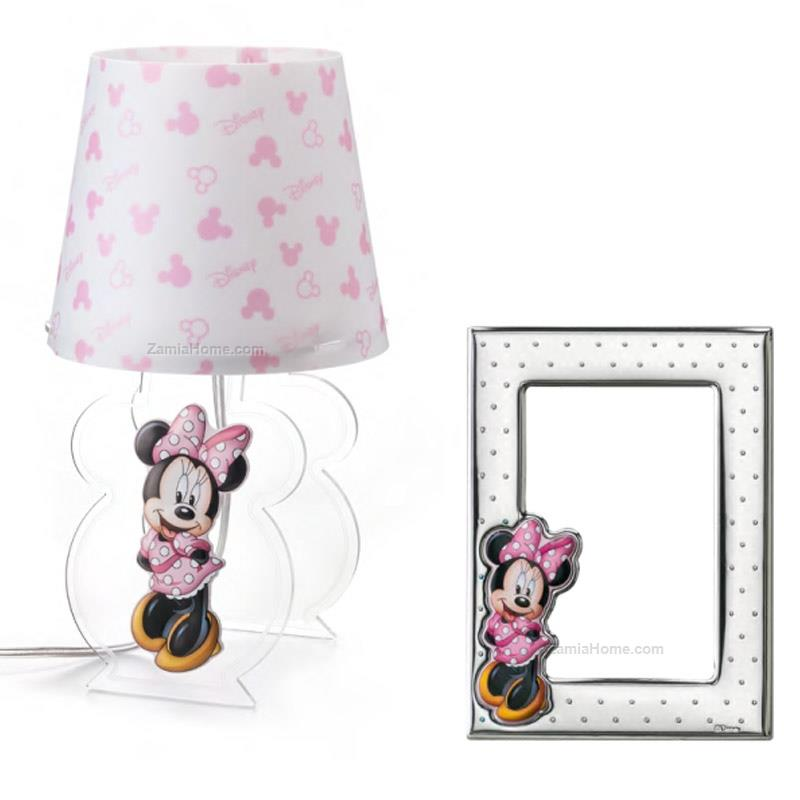 Lamp and photoframe set minnie mouse