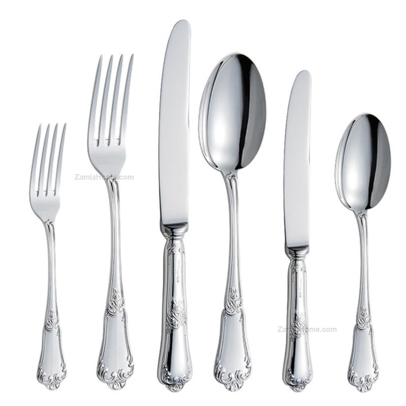 Cutlery complete set floral style